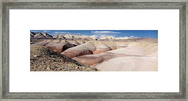 Bentonite Mounds Framed Print