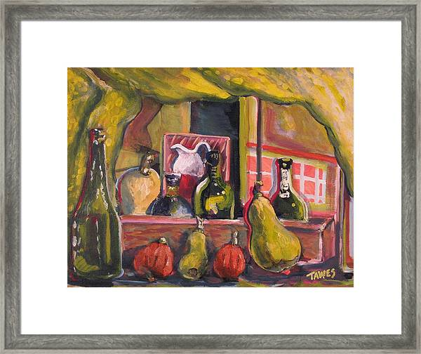 Before And After Dinner Framed Print