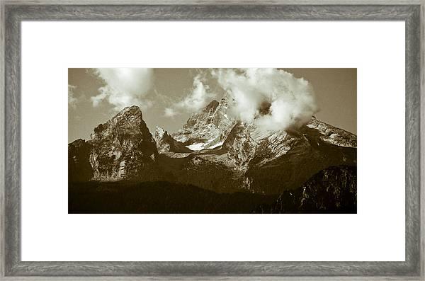 Berchtesgaden Mountains Framed Print by Frank Tschakert
