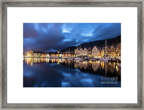 Bergen Harbor Framed Print