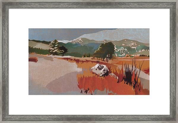 Bergen Peak First Snow Framed Print
