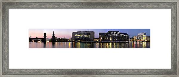 Framed Print featuring the photograph Berlin 360 Grad  by Juergen Held