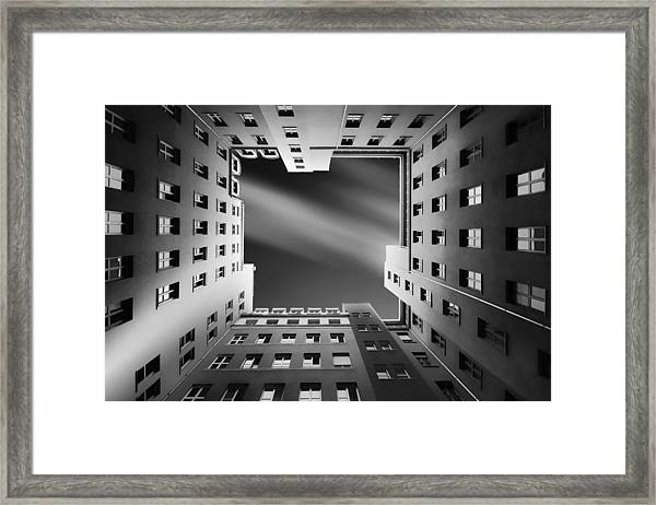 Berlin Backyards Framed Print