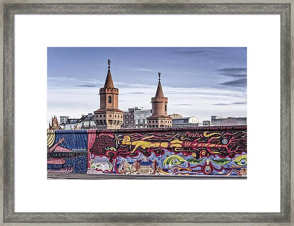 Framed Print featuring the photograph Berlin Wall by Juergen Held