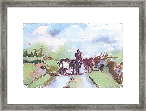 Bernie On The Road Framed Print