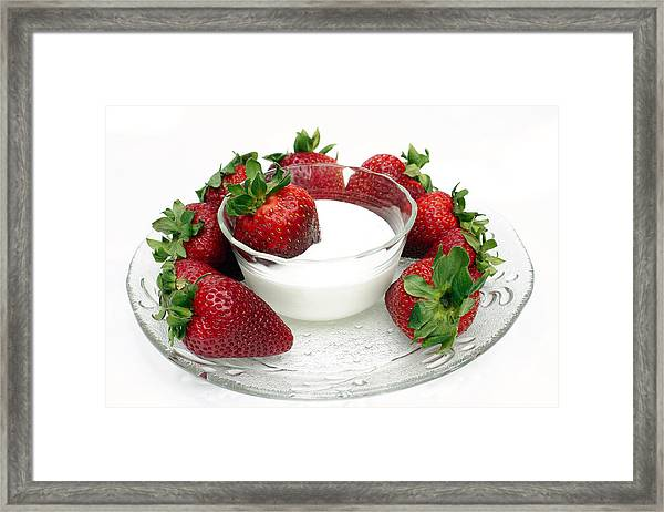Berries And Cream Framed Print