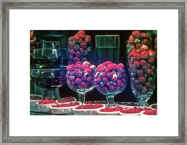 Berries In The Window Framed Print
