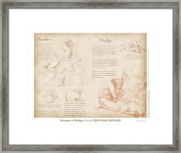 Berserkers And Wendigos Framed Print