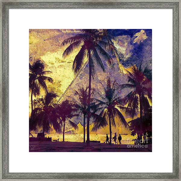 Beside The Sea Framed Print