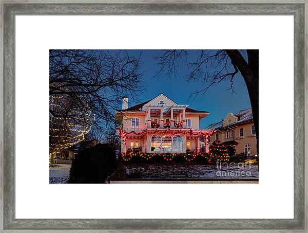 Best Christmas Lights Lake Of The Isles Minneapolis Framed Print