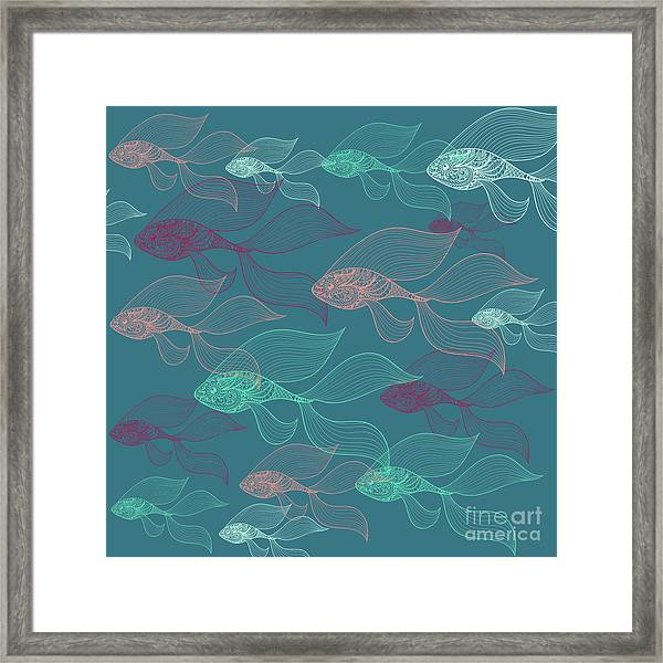 Beta Fish  Framed Print