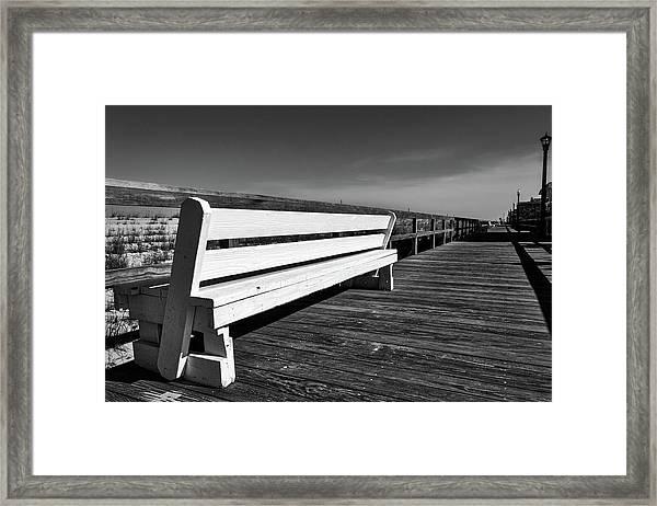 Bethany Beach Boardwalk Framed Print