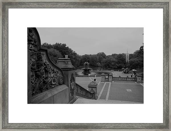 Bethesda Fountain Steps Framed Print