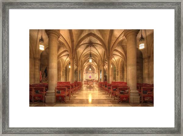 Bethlehem Chapel Washington National Cathedral Framed Print