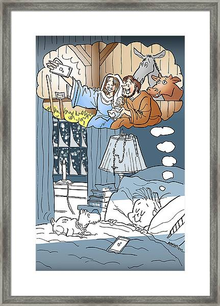 Nativity Selfie Framed Print