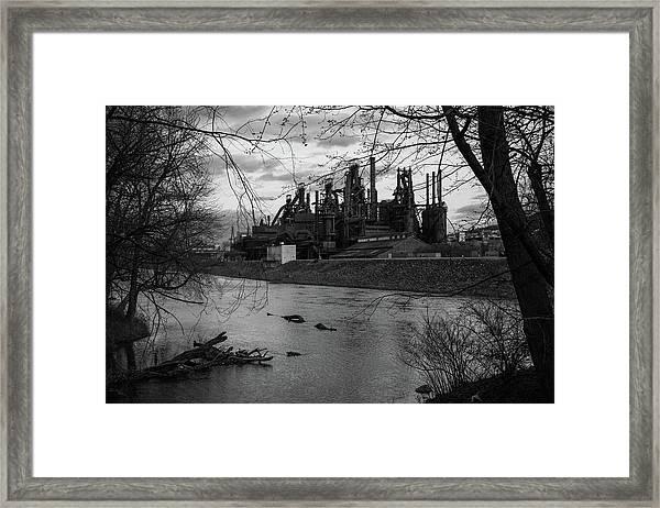 Bethlehem Steel Bw Framed Print