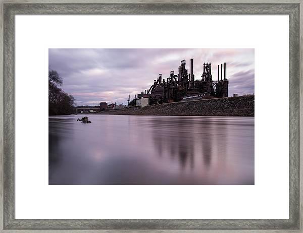 Bethlehem Steel Sunset Framed Print