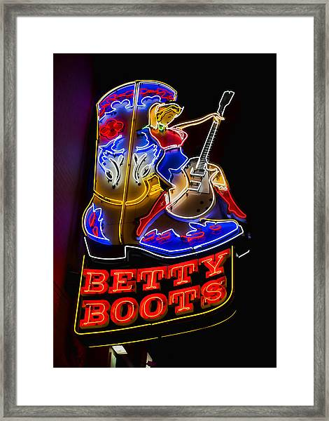 Betty Boots Framed Print