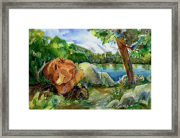Between A Rock And Hardplace Framed Print