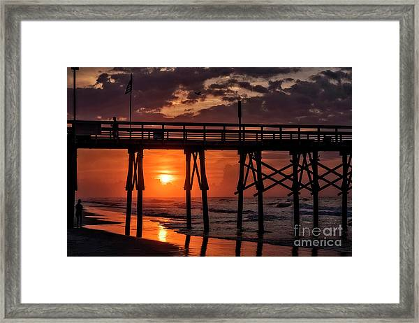 Framed Print featuring the photograph Between by DJA Images