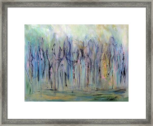 Between Horse And Men Framed Print