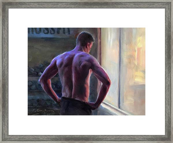 Between Sets Framed Print