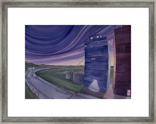 Framed Print featuring the painting Between The Elevators II by Scott Kirby