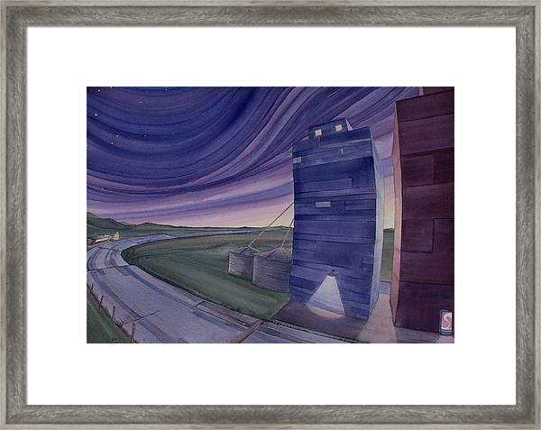 Between The Elevators II Framed Print