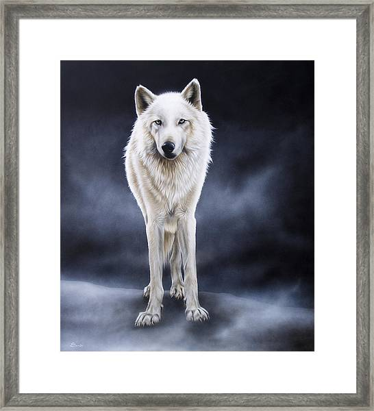 'between The White And The Black' Framed Print
