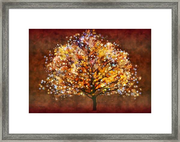 Starry Tree Framed Print