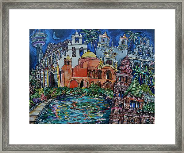 Bexar County Missions Framed Print