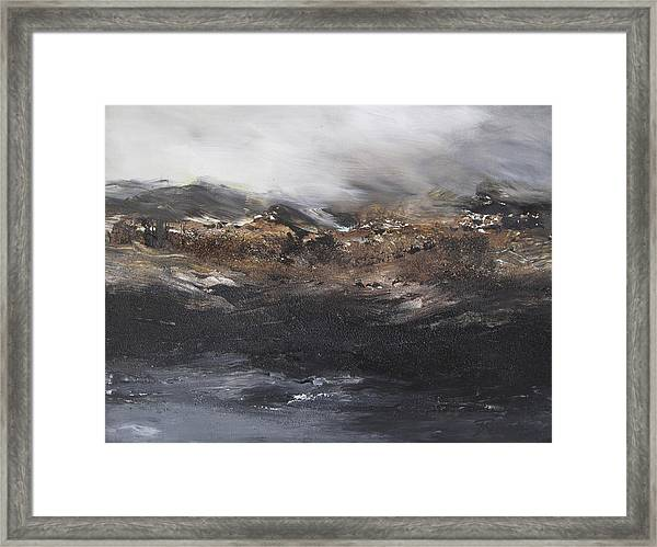 Beyond The Cliffs Framed Print
