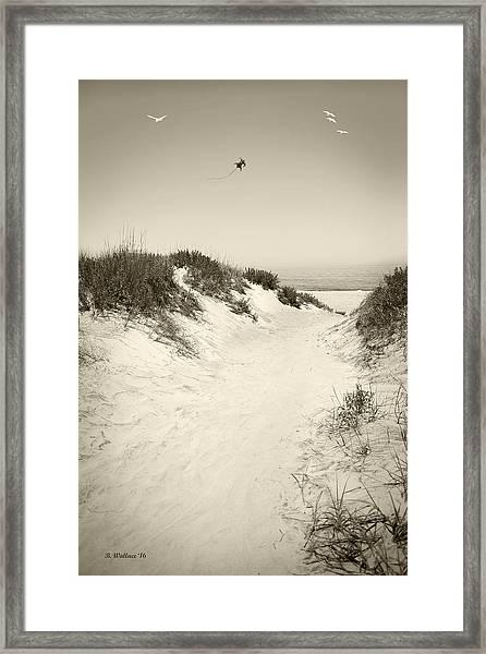 Beyond The Dunes Framed Print