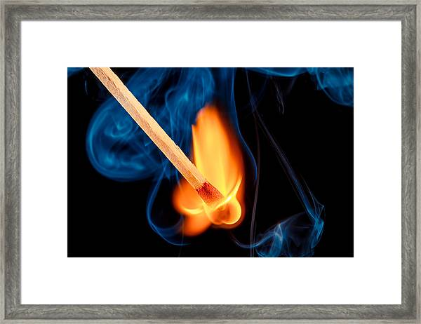 Beyond The Flame Framed Print