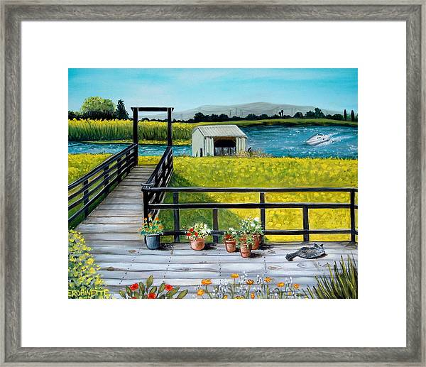 Beyond The Levee Framed Print