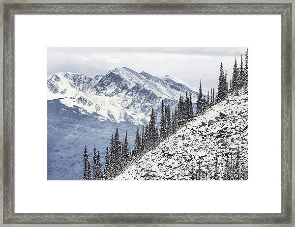 Beyond The Northern Hills Framed Print