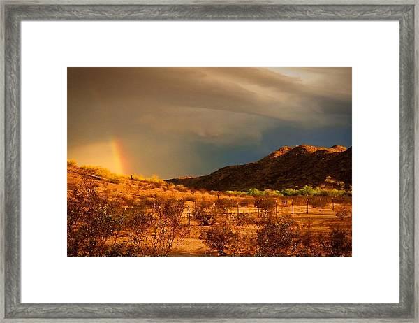 Beyond The Rainbow Framed Print