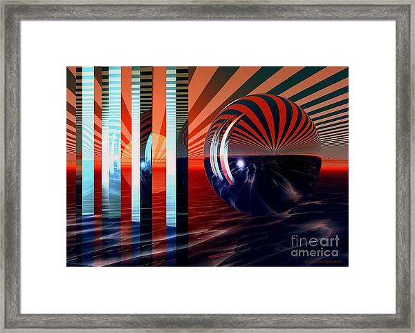 Beyond Tomorrow Framed Print by Sandra Bauser Digital Art
