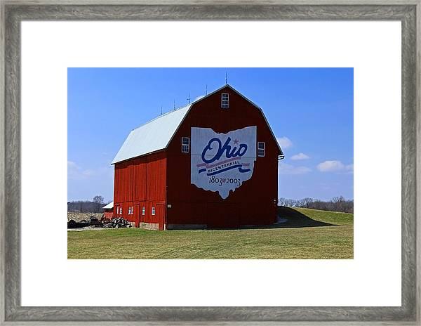 Bicentennial Barn  Framed Print