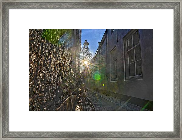 Bicycle Alley Framed Print