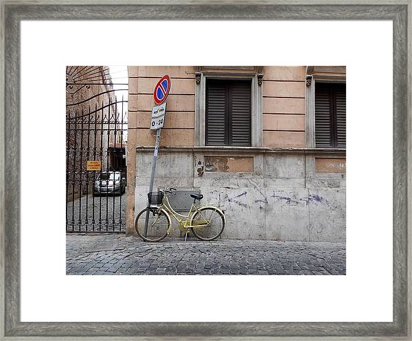 Bicycle Thief Framed Print by Michelle Barone