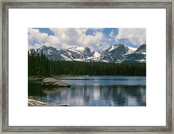 Bierstadt Lake Hallett And Otis Peaks Rocky  Mountain National Park Framed Print