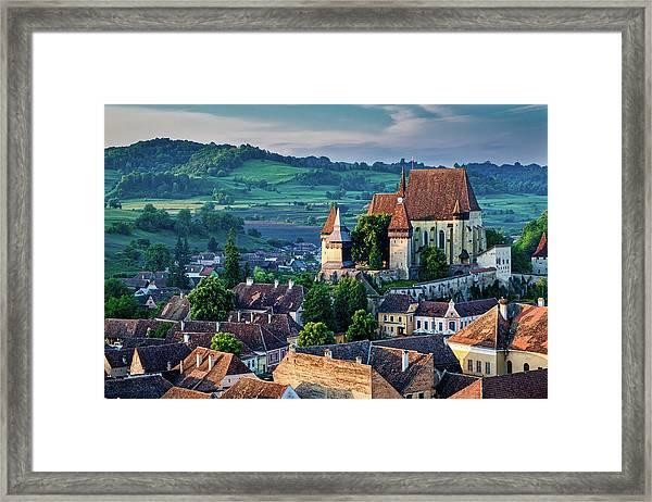 Biertan Church Dawn - Romania Framed Print