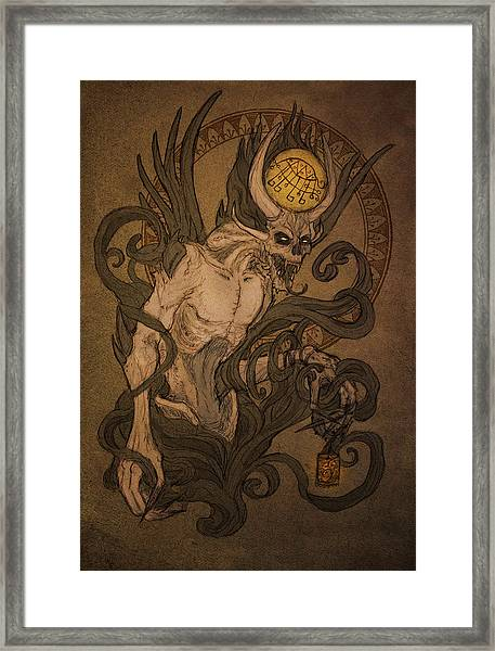 Demons Of Goetia - Bifrons Framed Print by Cambion Art