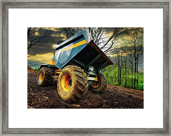 Big Bad Dumper Truck Framed Print