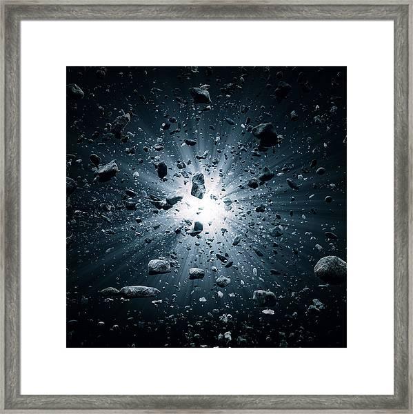 Big Bang Explosion In Space Framed Print