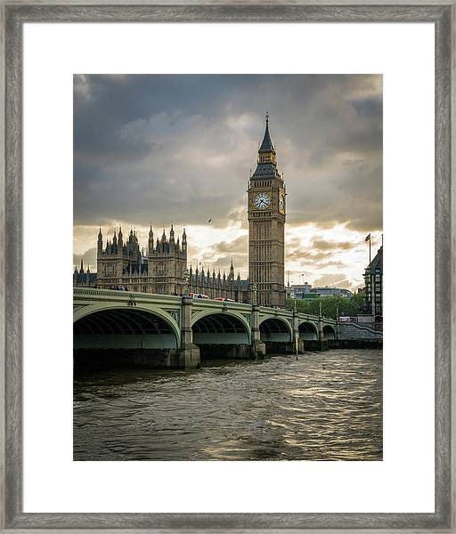 Big Ben At Sunset Framed Print