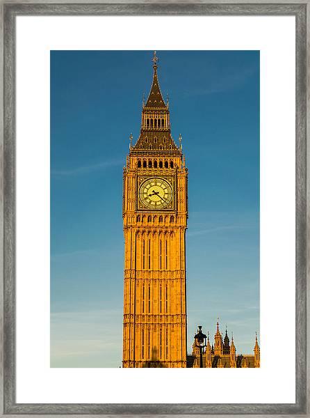 Big Ben Tower Golden Hour London Framed Print