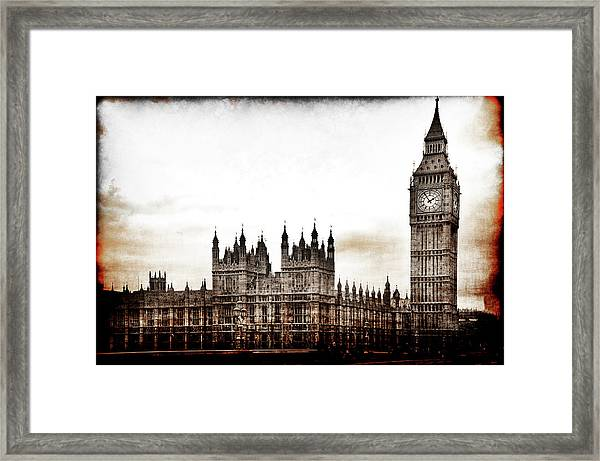 Big Bend And The Palace Of Westminster Framed Print