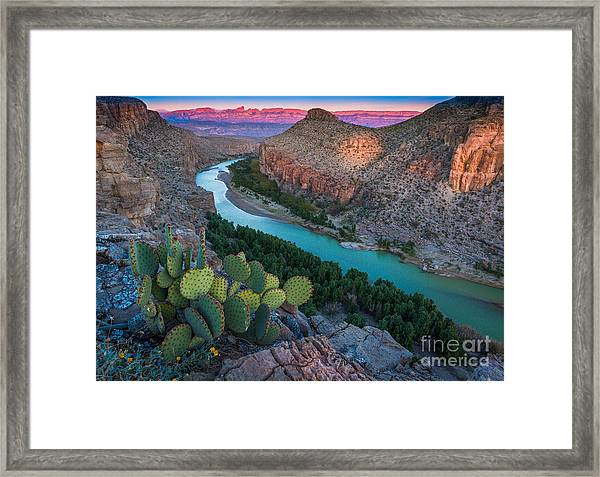 Big Bend Evening Framed Print